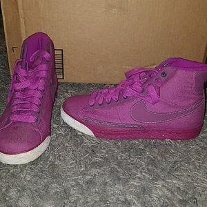 Nike Fushia High Top Sneakers